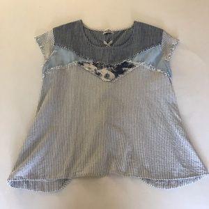 POL multi fabric top